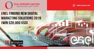 Enel Finding New digital Marketing Solutions 2019 (Win $20,000 USD)