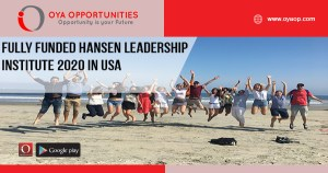 Fully Funded Hansen Leadership Institute 2020 in USA