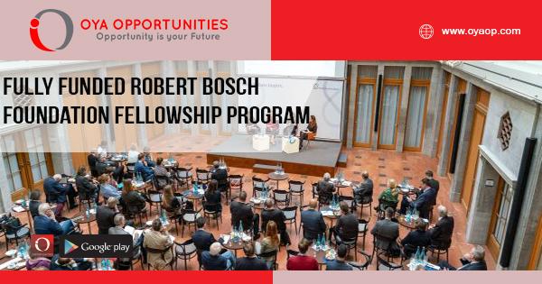 Fully Funded Robert Bosch Foundation Fellowship Program 2019