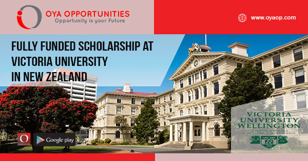 Fully Funded Scholarship at Victoria University in New Zealand