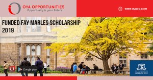 Funded Fay Marles Scholarship 2019