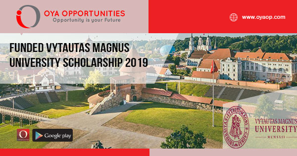Funded Vytautas Magnus University Scholarship 2019