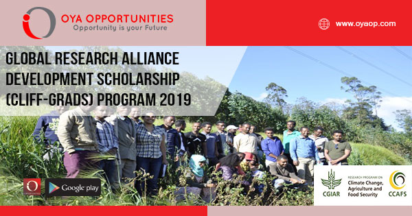 Global Research Alliance Development Scholarship (CLIFF-GRADS) Program 2019