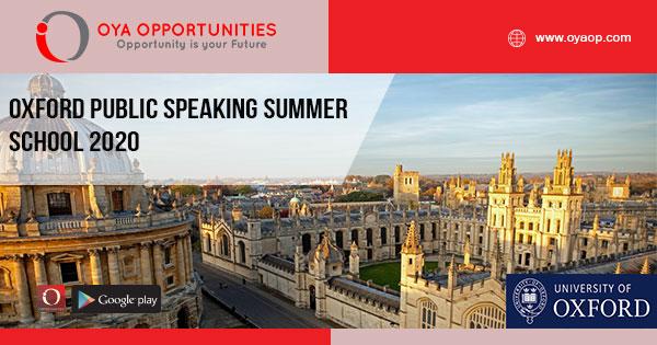 Summer School 2020.Oxford Public Speaking Summer School 2020 In Uk Oya
