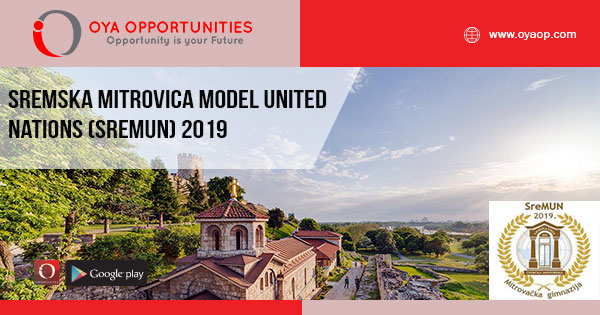 Sremska Mitrovica Model United Nations (SreMUN) 2019