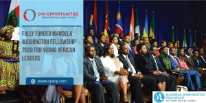 Fully Funded Mandela Washington Fellowship 2020 for Young African Leaders