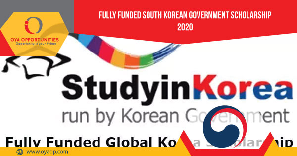 Fully Funded South Korean Government Scholarship 2020