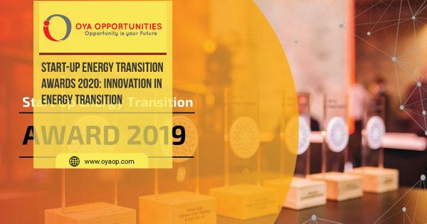 Start-Up Energy Transition Awards 2020: Innovation in Energy Transition