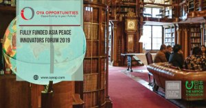 Fully Funded Asia Peace Innovators Forum 2019