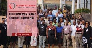 Fully Funded Social Science Research Fellowship 2020