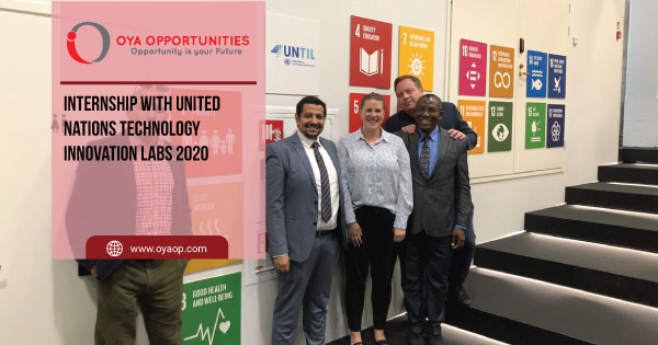 Internship with United Nations Technology Innovation Labs 2020