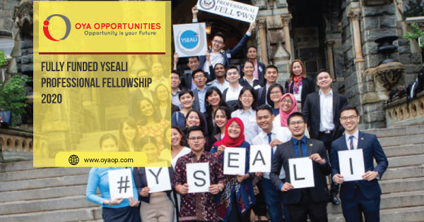 Fully Funded YSEALI Professional Fellowship 2020