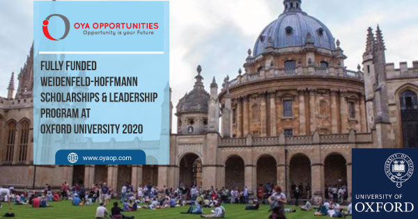 Fully Funded Weidenfeld-Hoffmann Scholarships and Leadership Program at Oxford University