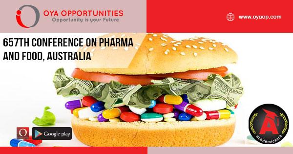657th Conference on Pharma and Food, Australia