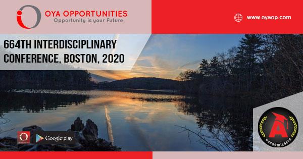 664th Interdisciplinary Conference, Boston, 2020