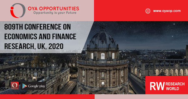 809th Conference on Economics and Finance Research, UK