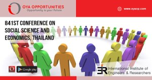 841st Conference on Social Science and Economics