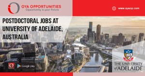 Postdoctoral Jobs at University of Adelaide, Australia