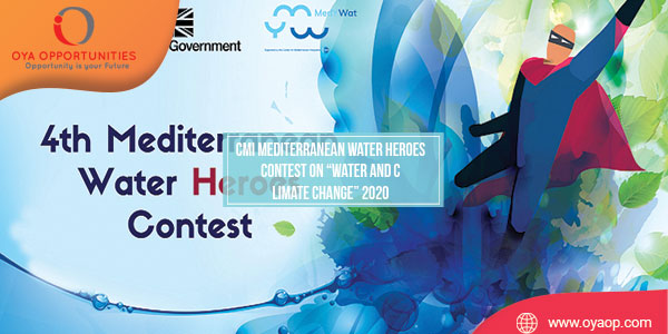 """CMI Mediterranean Water Heroes Contest on """"Water and Climate Change"""" 2020"""