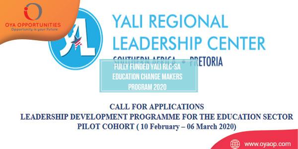 Fully Funded YALI RLC-SA Education Change Makers Program 2020