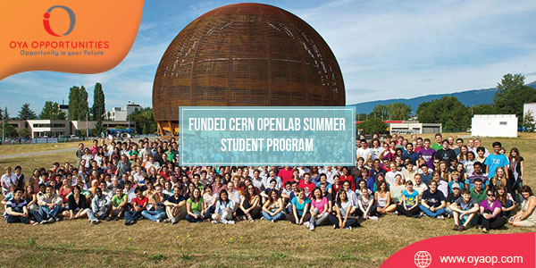 Funded CERN Openlab Summer Student Program