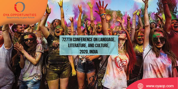 727th Conference on Language, Literature, and Culture, 2020, India