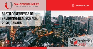 816th Conference on Environmental Science, 2020, Canada
