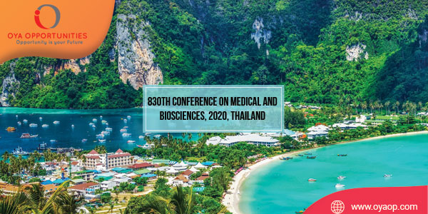 830th Conference on Medical and Biosciences, 2020, Thailand