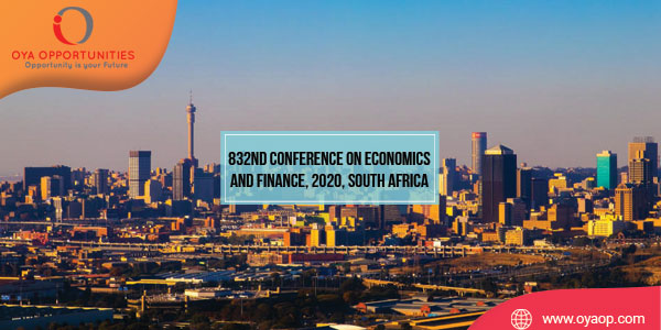 832nd Conference on Economics and Finance, 2020, South Africa