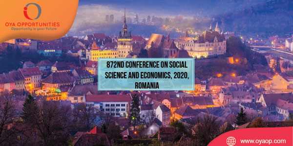 872nd Conference on Social Science and Economics, 2020, Romania