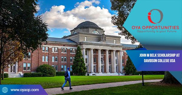 John M Belk Scholarship at Davidson College USA