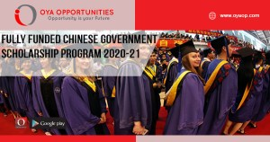 Fully Funded Chinese Government Scholarship Program 2020-21