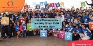 Digital Communication Internship 2020 at UNDP in United States
