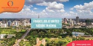 Finance Job at United Nations in Kenya