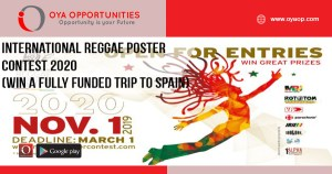 International Reggae Poster Contest 2020 (Win a fully funded trip to Spain)