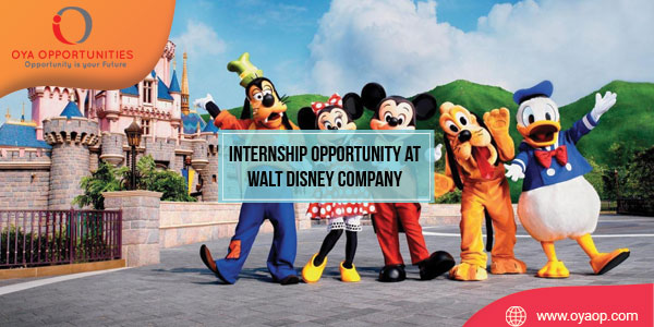 Internship Opportunity at Walt Disney Company in California