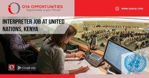 Interpreter Job at United Nations, Kenya
