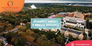Job Vacancy at University of Minnesota