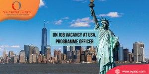 UN Job Vacancy at US, Programme Officer