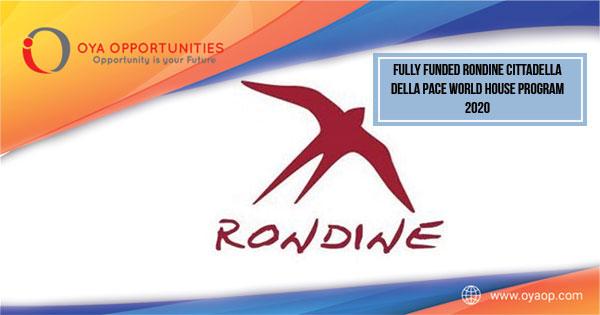 Fully Funded Rondine Cittadella della Pace World House Program 2020