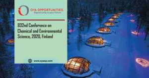 832nd Conference on Chemical and Environmental Science, 2020, Finland