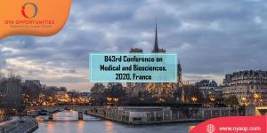 843rd Conference on Medical and Biosciences, 2020, France