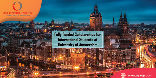 Full Scholarships for International Students at University of Amsterdam