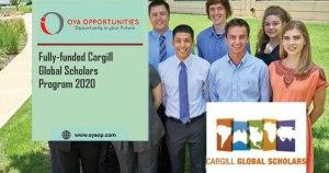 Fully-funded Cargill Global Scholars Program 2020