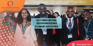 Fully funded Doctoral Dissertation Research Fellowship 2020 in Africa