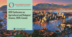 ISER Conference on Agricultural and Biological Science, 2020, Canada
