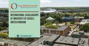 International Scholarships at University of Sussex, United Kingdom