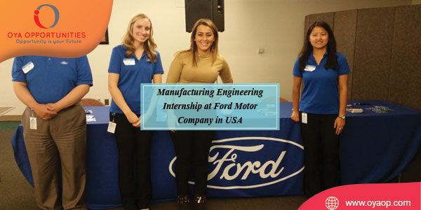 Manufacturing Engineering Internship at Ford Motor Company in USA
