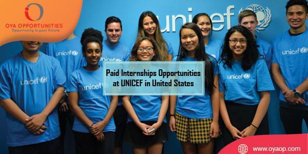Paid Internships Opportunities at UNICEF in United States