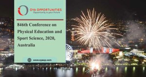 846th Conference on Physical Education and Sport Science, 2020, Australia